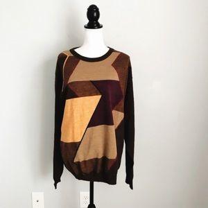 Saks Fifth Avenue Geometric Wool Blend Sweater